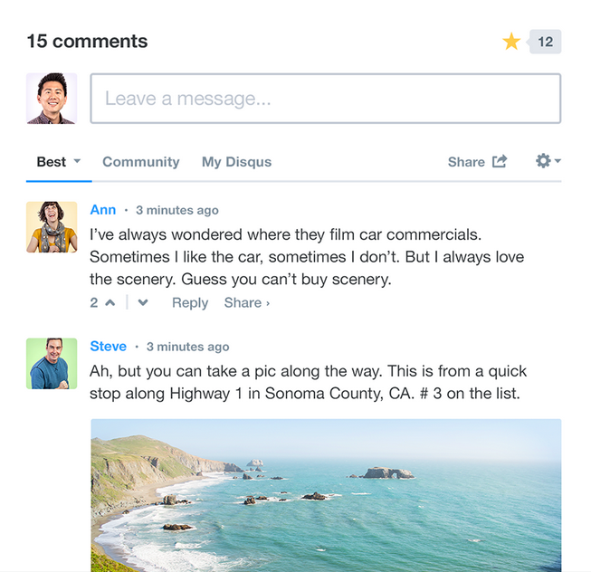 disqus blog commenting tool