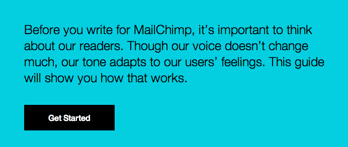 MailChimp Tone and Voice