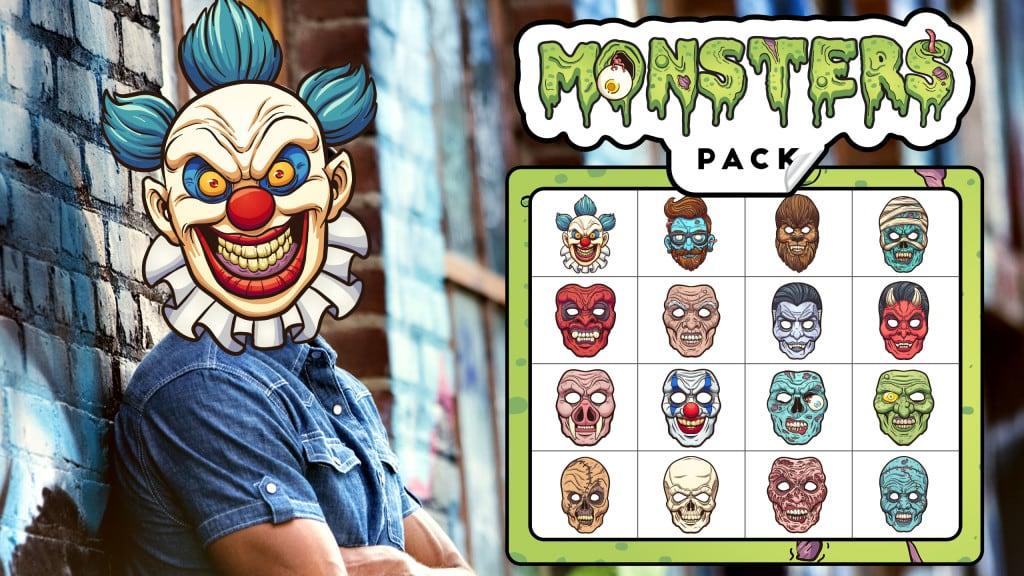 Monster Stickar Pack