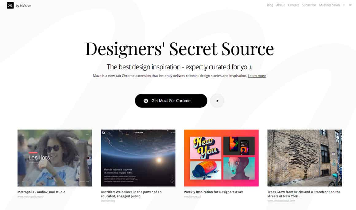 design inspiration sites