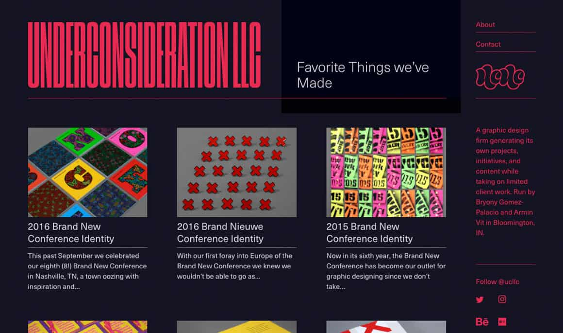 sites that inspire design