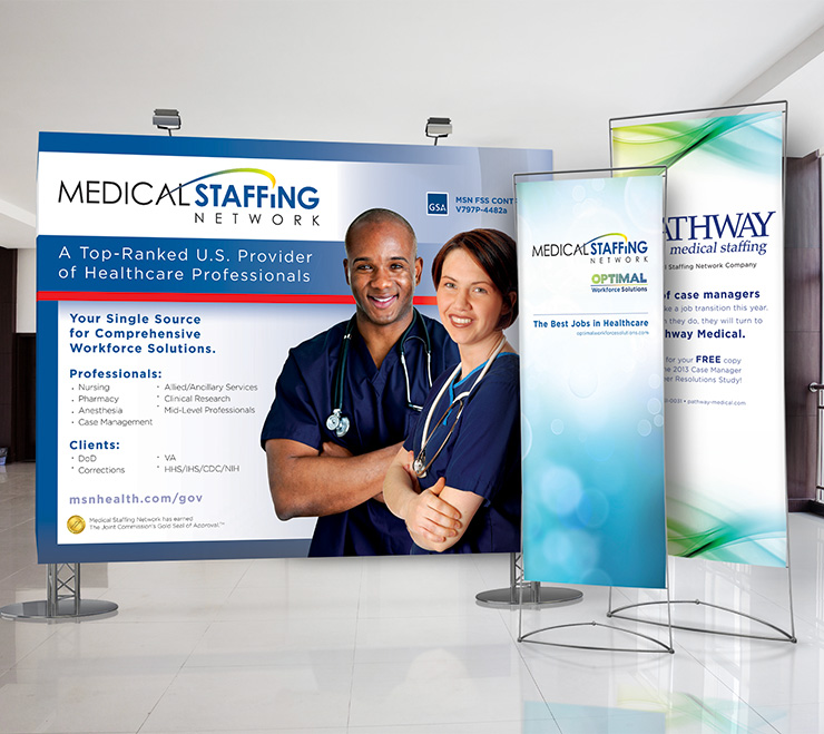 Medical Staffing Network Tradeshow Materials